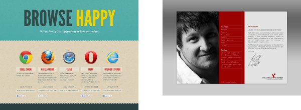 Two great single page websites - browse happy and matthias steiner, offering information at a glance, The Advantages Of A Single Page Website