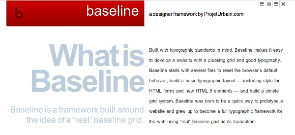Screenshot of Baseline blog - minimalism in web design