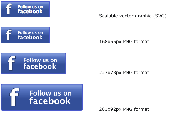 Beautiful Free Facebook Buttons, Free For Personal or Commercial Use