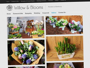 Photo gallery for Willow and Blooms Flower Shop website
