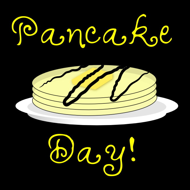 Pancake Day graphic design by Squelch WordPress Web Design
